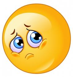 sad emoticon vector image vector image