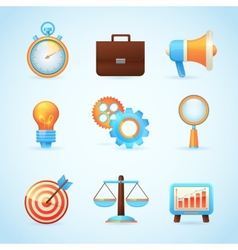SEO internet marketing icons vector image vector image