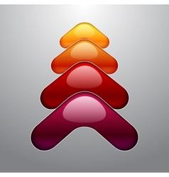 Shining colorful aqua style 3d christmas tree vector image vector image