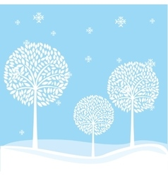 winter landscape field isolated vector image