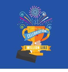 1 million likes celebration vector