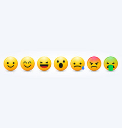 3d design new modern emoticons set vector image