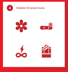4 ornament icons vector