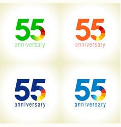 55 anniversary logo concept vector image