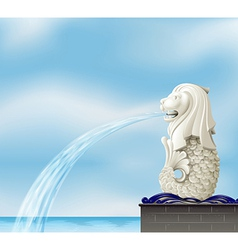 A statue of a merlion vector
