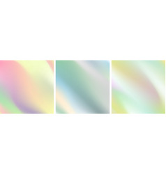 Abstract holographic soft wavy gradient stripes vector