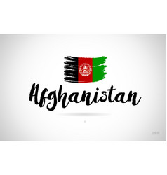 Afghanistan country flag concept with grunge vector