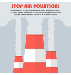 Air pollution flat design vector image