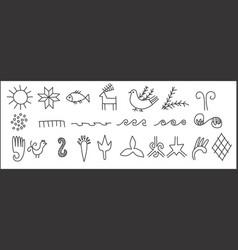 Ancient symbols vector