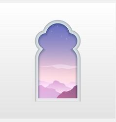 Arab window eamadan islamic doorm arabian vector