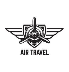 Aviation training center emblem template vector
