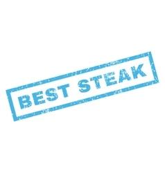 Best Steak Rubber Stamp vector