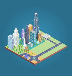 buildings and district build vector image