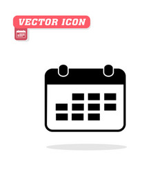 calendar icon white background image vector image