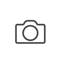 camera icon graphic design template vector image