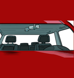 Car interior without people vector