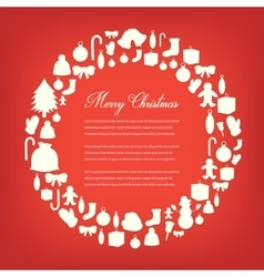 Christmas Greeting Card Merry Christmas vector image