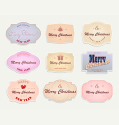 christmas label with light colors set vector image