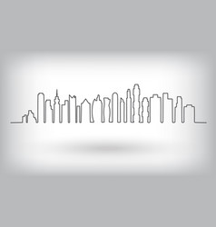 City skyline urban background vector