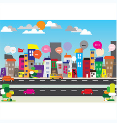 city speech bubbles concept vector image