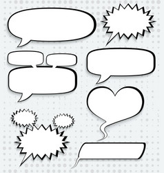 cosmic speech bubbles paper design vector image