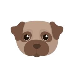 Cute dog kawaii style vector