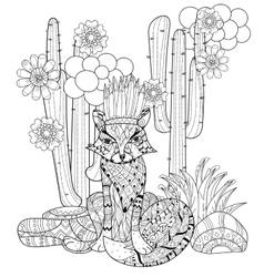 Cute fairy wigwam doodle vector