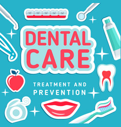 Dental care poster vector
