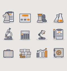 Development line icons copy vector image