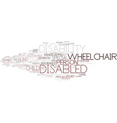 Disability word cloud concept vector