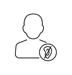 disabled icon in thin line style symbol vector image