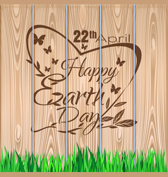 earth day lettering design 22 april vector image
