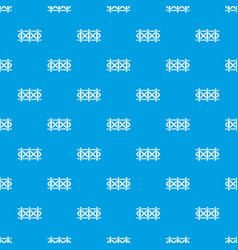 fence decorative pattern seamless blue vector image