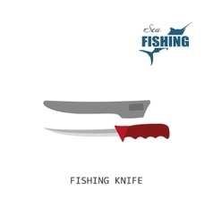 Fisher knife Item of fishing vector