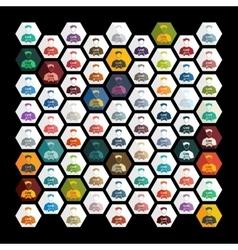 Flat design gamer vector image