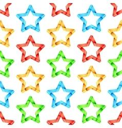 Folded Stars Seamless Pattern vector