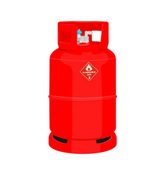 Gas cylinder vector