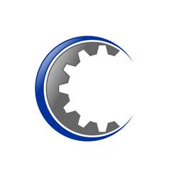 Gear cog initial c lettermark icon design vector
