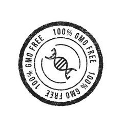 gmo free grunge rubber stamp on white background vector image