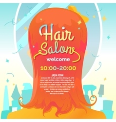 Hair salon and poster vector image