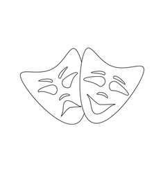 happy and evil mask vector image