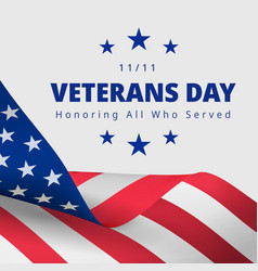Happy and free veterans day november 11th vector
