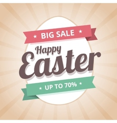 Happy Easter Sale big sale vector image