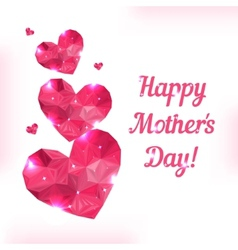 Happy Mother day Love symbol Pink origami heart on vector image