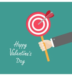 Happy Valentines Day Love card Businessman hand vector