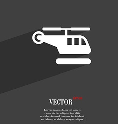 helicopter icon symbol Flat modern web design with vector image
