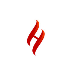 Hot letter h logo icon design vector