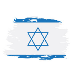 Isolated israeli flag vector
