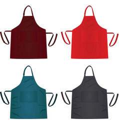 Kitchen colorful apron vector