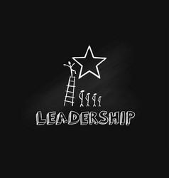 Leadership hand drawn vector